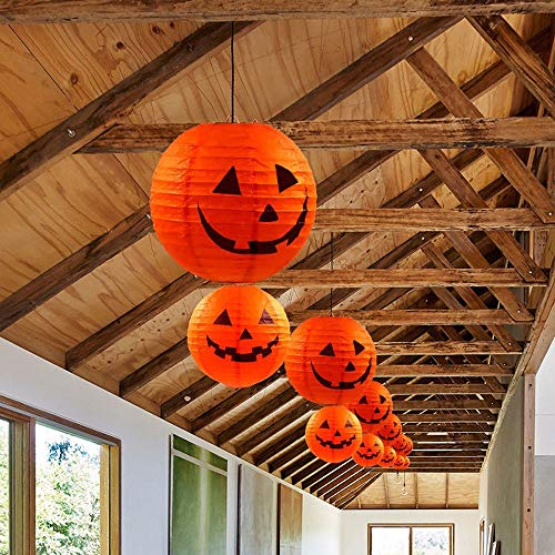 VICKY-HOHO Neue Halloween Papier Kürbis hängen Laterne DIY Urlaub Party Dekor beängstigend C