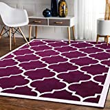 A2Z RUG Trellis Rugs Purple 160x230 cm - 5'2''x7'5'' ft Trendy Collection Area Rug