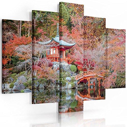 Feeby frames tableau multi panneau 5 parties tableau - Tableau jardin japonais ...