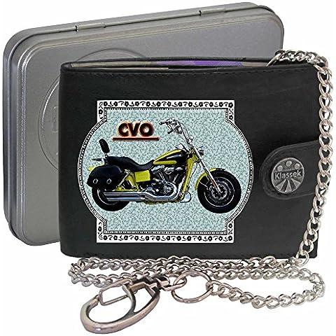 HARLEY DAVIDSON CVO Klassek Uomo Portafoglio con catena motocicletta accessorio Moto