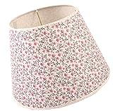 Soleil2012 Lampenschirm für Tisch Stehleuchte Leuchtschirm Blume Shabby Landstil (Pink - 22,5cm)