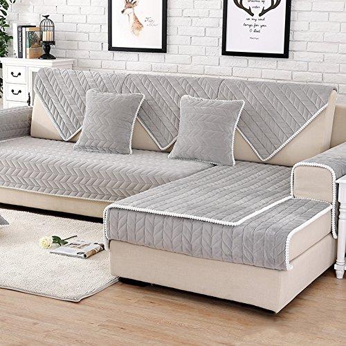 DW&HX Mordern Simple Canapé Housse mobilier Protecteur pour Les Enfants de Chien, Housse de canapé Solid Color Épaissir Housse de canapé Anti-dÉrapant sans Bretelles-A 35x28inch(90x70cm)