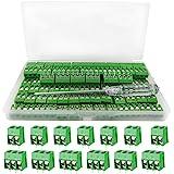 YIXISI 100 piezas Bloque de terminales de tornillo conectores de bloque de terminal de tornillo de montaje de 2P/3P PCB de pa