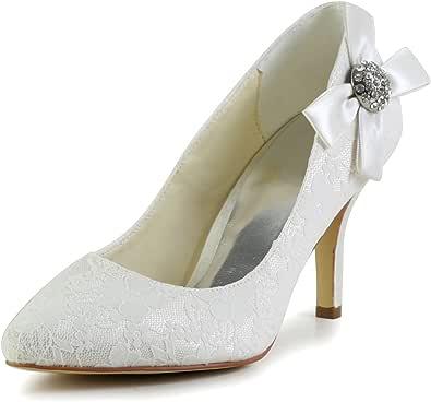 JIA JIA Wedding 839028 Scarpe Sposa Scarpe col Tacco Donna Avorio, EU 35