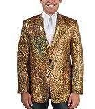 Comycom 70er Jahre Glitter Sakko goldfarben XXL
