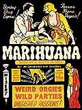 PROPAGANDA POLITICAL DRUG ABUSE MARIJUANA WEED WEIRD COOL POSTERPRINT BB6809B