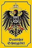 Deutsches Schutzgebiet Historisches Wappen schild aus blech, Deutsches reich, Adler,