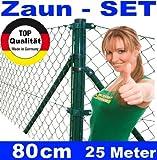 Maschendrahtzaun - SET 80 cm 25 Meter lang Maschendraht