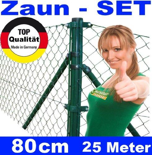 *Maschendrahtzaun – SET 80 cm 25 Meter lang Maschendraht*