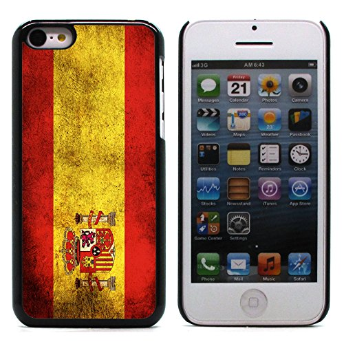 Graphic4You Vintage Uralt Flagge Von Portugal Portugiesisch Design Harte Hülle Case Tasche Schutzhülle für Apple iPhone 5C Spanien Spanisch