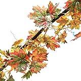 MyLifeUNIT Blättergirlande aus künstlichen Ranken, herbstliches Ahornlaub, 2,7m