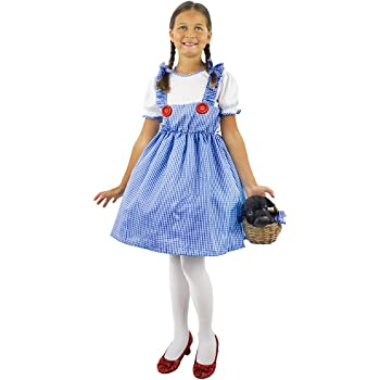 GIRLS DOROTHY FANCY DRESS COUNTRY STORYBOOK BOOK WEEK COSTUME CHILDS CHARACTER