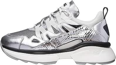 Nero Giardini E010797D Sneakers Donna in Pelle, Tela E Vernice