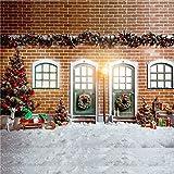 Rot Brick Hintergrund für Fotografie Familie Weihnachtsbaum Hintergründen 10x 10ft-3X 3M Weiß Baumwolle Boden Hintergrund