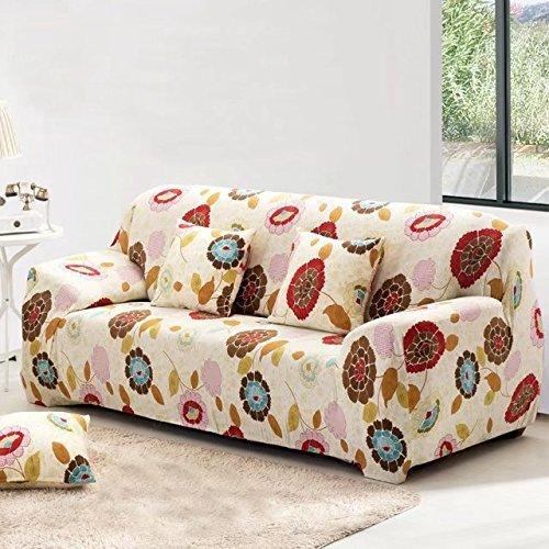 shinemoon Stretch Sofabezüge elastischer Stoff Easy Fit Couch Sofa Sessel Bezüge Pet Sofa Bezug Displayschutzfolie, Sunflowers Pattern, 2-Sitzer