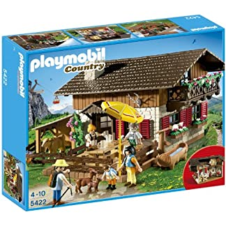 Playmobil Vida en la Montaña – Casa de los Alpes con Varios Accesorios, Playsets de Figuras de Juguete, 50 x 10 x 40 cm, (5422)