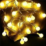 Lichterkette innen Glühbirne Lichterkette Batterie Kugeln, 20er LED Lichterkette Kinderzimmer Globe String Licht, Deko Glühbirne Warmweiß mit Fotoclips Weihnachten/ Hochzeit/ Party/ Weihnachtsbaum/ Dekolampe,
