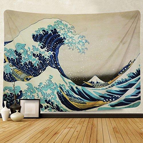 "Preisvergleich Produktbild Martine Mall Wandteppich,  Wandteppich,  Motiv: The Great Wave Off Kanagawa Katsushika Hokusai Thirty-six Views Mount Fuji 70.9"" x 92.5"" The Great Wave Off Kanagawa"