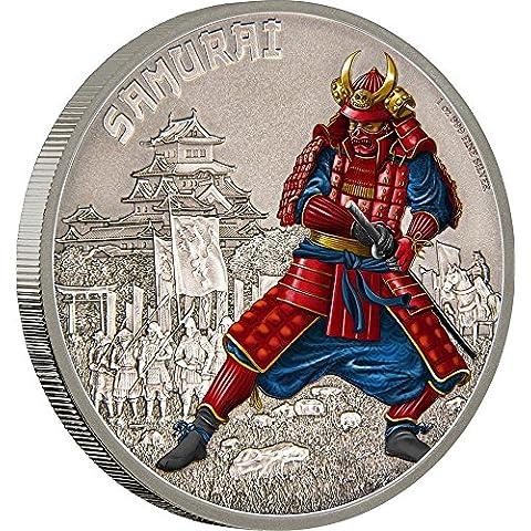 SAMURAI Warriors of History Guerrieri della Storia 1 Oz Moneta Argento 2$ Niue 2016 Monete Coin - Serie 2 Coin