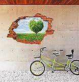 GOUZI Kreative und stilvolle 3D Wanddekoration wasserdichten Plane 60 × 90 cm Wandaufkleber abnehmbare Wall Sticker für Schlafzimmer Wohnzimmer Hintergrund Wand Bad Studie Friseur