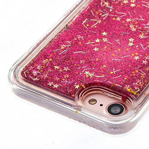 Pheant® Apple iPhone 7 (4.7 pouces) Coque Gel Transparent Brillante Étui de Protection en TPU Silicone avec Liquide Bling Gratuit Paillette Sable Mouvant Couleur-03