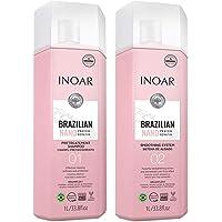 Kit Inoar Brazilian Nano Protein Keratin (Shampoo + Treatment) 2L