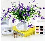 SCLOTHS Orchidee Schmetterling Pflanzen im Topf Set Kunstblumen Dekoration lila Wohnzimmer
