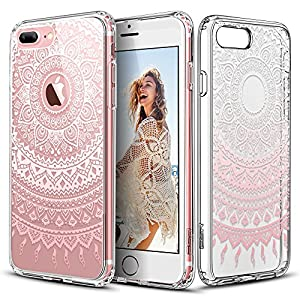 Capa para iPhone 7 Pluscom mandala Rosa Manjusaka
