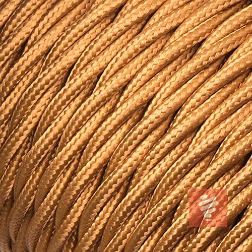 Textilkabel für Lampe, verseilt (geflochten), dreiadrig - 3x0,75mm², Whiskey (Hellbraun) - 10 Meter