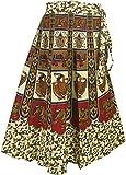 Indien Kleidung Baumwoll Rock Designer Wickelrock Kleider