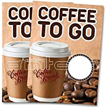 2 x Coffee - Kaffee to go Poster / Plakat DIN A1 Werbung für Cafes