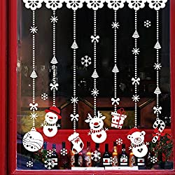 Pared de la Navidad Etiqueta,RETUROM Navidad bola de nieve desmontable Inicio Vinilo Ventana engomadas de la pared de la etiqueta de la decoración