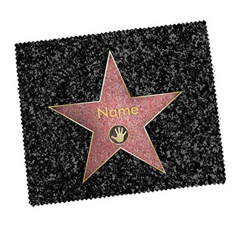 Herz & Heim® Brillenputztuch - Walk of fame - mit Ihrem Wunschnamen