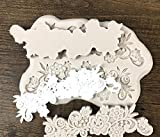 #10: JoyGlobal Flower Shape Lace Bouquet Silicone Fondant Mold Cake Decorating Moulds