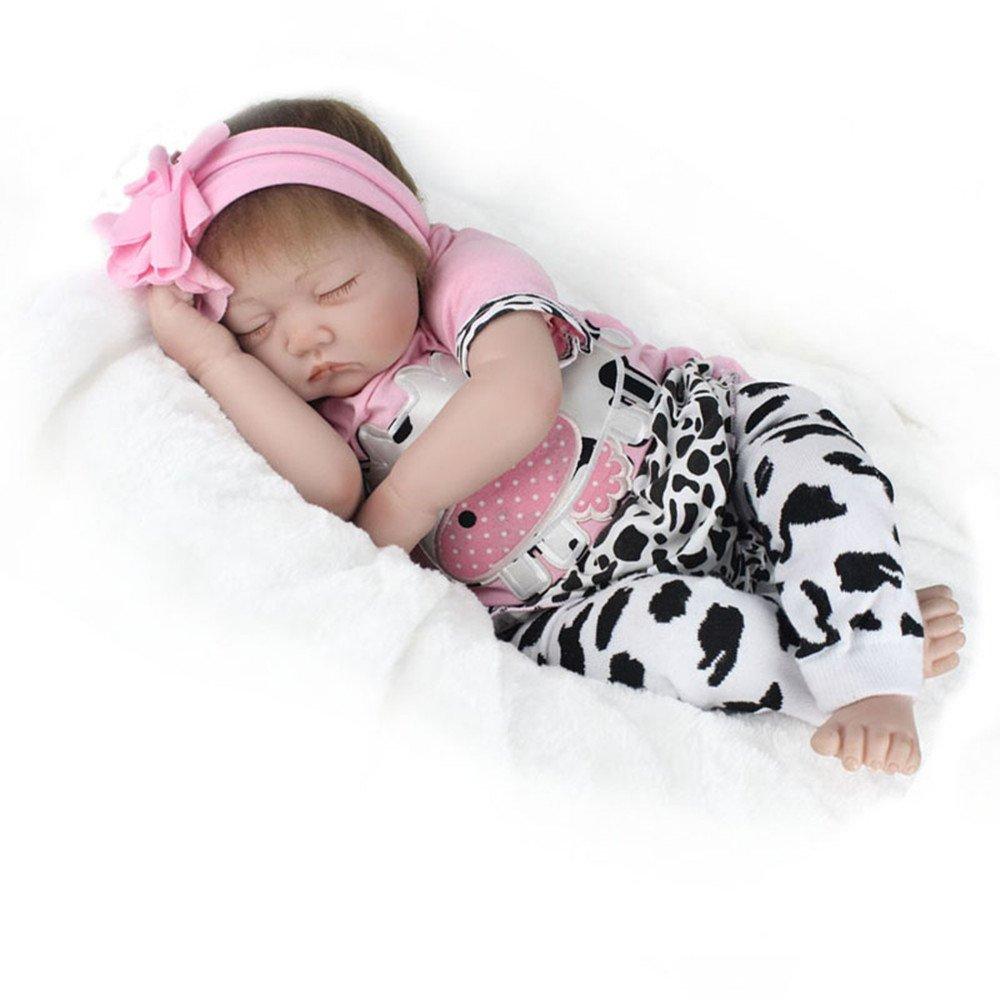 ae40bb1592 Muñecas y accesorios HOOMAI 22inch 55CM realista Dormir reborn muñeca bebé  niñas vinilo suave silicona baby doll Niños pequeños baratos ...