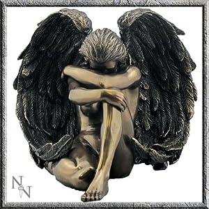 61S2b AaEAL. SS300  - Bronze Effect Seductive Angel Female Figurine 16.5 cm