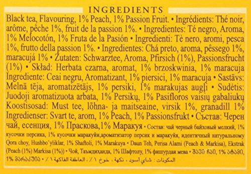 """Englisch Teas, """"Pfirsich-Maracuja Schwarzer Tee"""" – Stichwort und Aluminium Foil Eingehüllt in Teebeutel Gedruckt Carton – 699F"""
