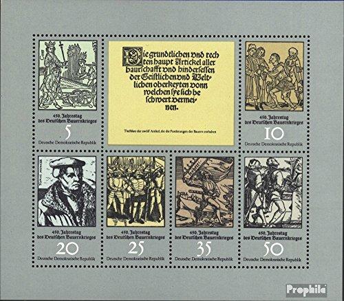 Prophila Collection DDR 2013-2018 Kleinbogen (kompl.Ausgabe) 1975 Bauernkrieg (Briefmarken für Sammler) Militär