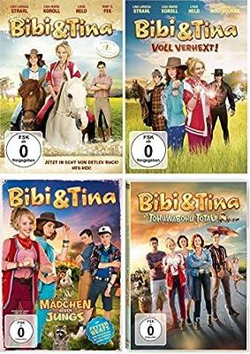 Bibi & Tina Kinofilme 1-4 (1, 2-voll verhext, 3-Mädchen gegen Jungs, 4-Tohuwabohu im Set - Deutsche Originalware [4 DVDs]