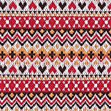 Fabulous Fabrics Strickstoff Folklore Chevron - rot/orange