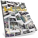 Dékokind® Tagebuch-Kalender: One Line A Day • Ca. A4-Format, Notizseiten & Zitate für jeden Monat • Kalenderbuch, Tagesplaner, Terminkalender • ArtNr. 18 Polaroid • Vintage Softcover