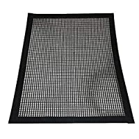 BovoYa Grill Net Pad Heat Resistance Non-Stick Grill Mesh Mat Reusable Professional Barbecue Accessories Suitable for Gas Barbecue Charcoal Barbecues 40 x 33 cm