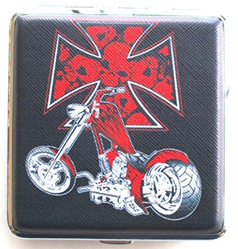 CIGARETTE CASE Chopper Motor Cycle Renegade Classics Rot Kreuz Zigarette Fall Geschlossene Motor