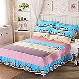 Best Linen Store Bed Skirts - SE7VEN Cotton bedspread, Bed skirt, Cartoon print one-piece Review