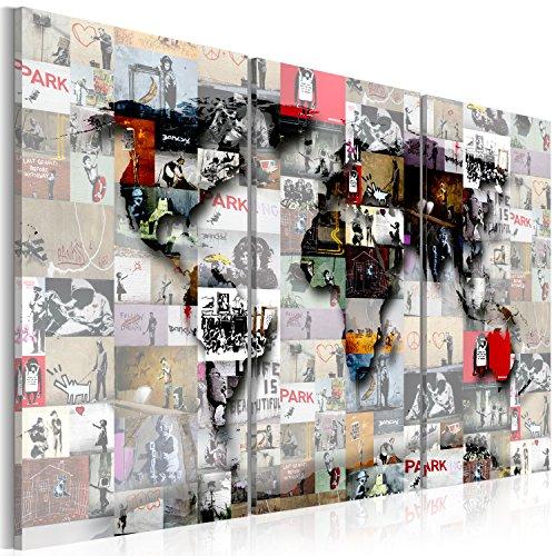 Murando   Cuadro 120x80 cm   Banksy   Mapamundo