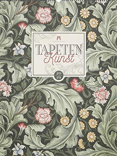 Tapetenkunst 2019, Wandkalender / Designkalender im Vintage-Look auf Naturpapier im Hochformat (50x66 cm) - Grafik-Kalender mit Monatskalendarium (Musik-kunst-dekor)