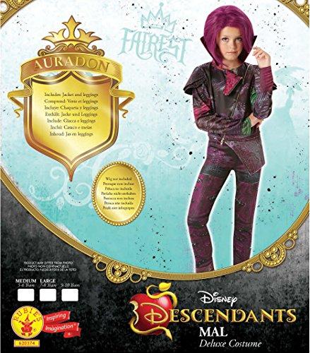 Mal Deluxe   Descendientes de Disney   Disfraz Infantil   Grande   128cm   Edad 7 8