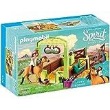 PLAYMOBIL DreamWorks Spirit Establo Fortu y Spirit, a Partir de 4 Años (9478)