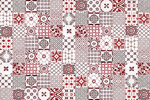 VINILIKO, Alfombra de vinilo, Lisboa, Rojo, 133x200 cm