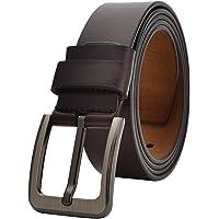 VRLEGEND Cintura Uomo Pelle 110-175 cm Regolare & Grandi e Alti,38mm Cinture Pelle con Fibbia ad Ardiglione per…